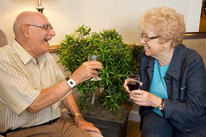 Senior Couple Sharing Wine